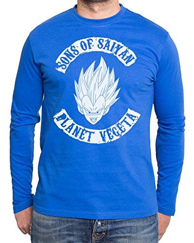Sambosa - T-Shirt à Manches Longues - Homme - Bleu - XXX-Large