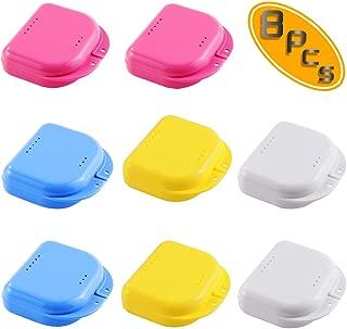 Bignc 8 Pack Retainer Case Denture Storage Container Mouth Guard Case Orthodontic Dental Retainer Box