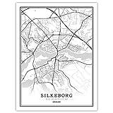 Lonfenner Leinwand Bild,Silkeborg Dänemark Abstrakte Farbe