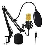 Techtest Usb Condenser Microphone BM 800 Kit All Set Inlcuding Stand Pop Filter