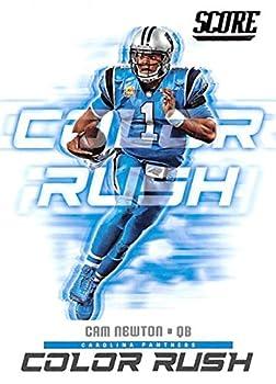 2018 Score Color Rush #7 Cam Newton Carolina Panthers Football Card…