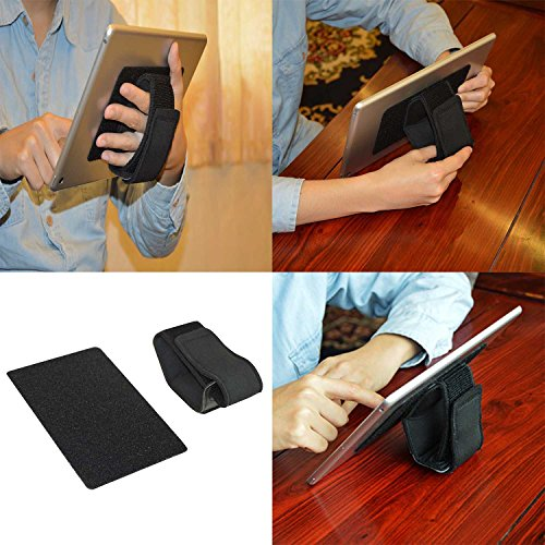 Tablet-Ständer, eBook-Reader Handschlaufe (universal passend) schwarz, verstellbar