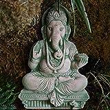 J.Mmiyi Ganesha Figura Estatua Decoracion Interior, Dios Elefante Meditación Escultura Dios De La Riqueza Buda Hogar Y Oficina Adornos,A