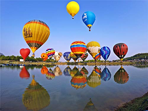 Jigsaw Puzzle 500 Pezzi adulti Bambini Educazione giocattoli Colorful Hot Air Balloon