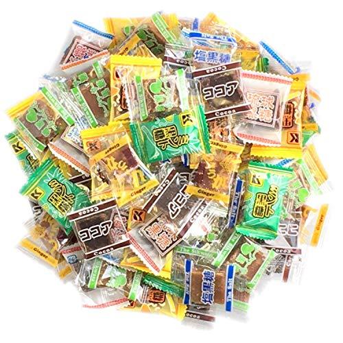 黒糖 いろんな味が楽しめるバラエティーパック 7種類 個包装 600g入り くろくろとう ミント黒糖 しょうが黒糖 塩黒糖 ココア黒糖 シークヮーサー黒糖 キャラメル黒糖 webtetオリジナルパック