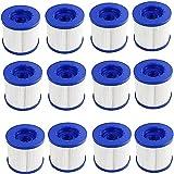 LXTOPN – Juego de 12 cartuchos de filtro de repuesto para Wave Spa, cartucho de filtro de piscina, filtro de tornillo hinchable, paso de tornillo, 60 mm,...