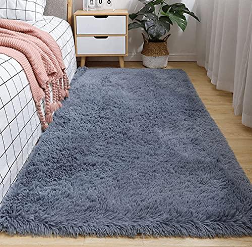 Txyk - Tappeto ultra morbido per interni moderni, per soggiorno, camera da letto dei bambini, 60 x 120 cm, colore: grigio