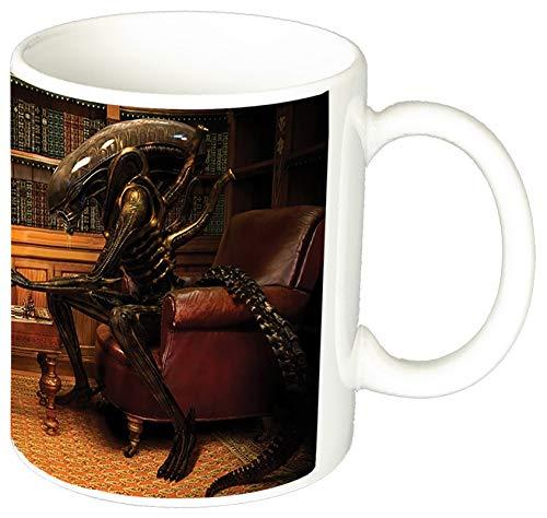 MasTazas Alien Vs Depredador Alien Vs Predator Ajedrez Chess AVP Taza Ceramica