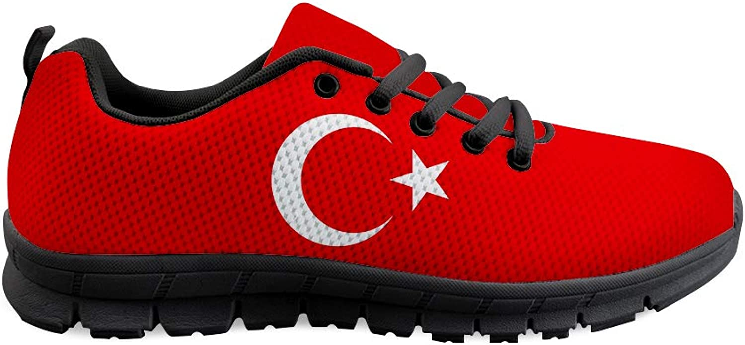 Owaheson Lace-up Sneaker Training shoes Mens Womens Turkey Flag