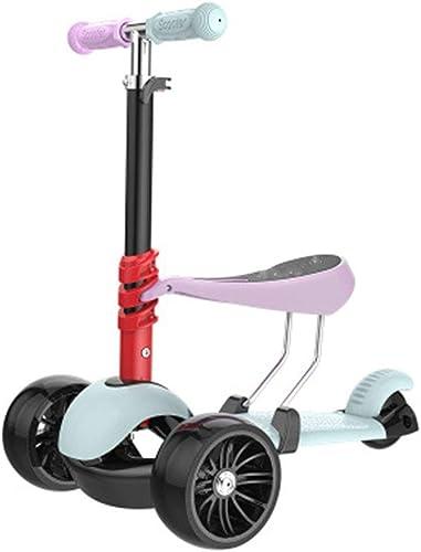 SBKD Scooter pour Enfants 3 Tours Peut Prendre Un Yo-yo Trois-en-Un Enfant Bébé Scooter Hommes Et Femmes (Couleur   A)