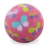 Crocodile Creek- Ballon-Texturé-Papillons Rose, 2131-9, 13 cm