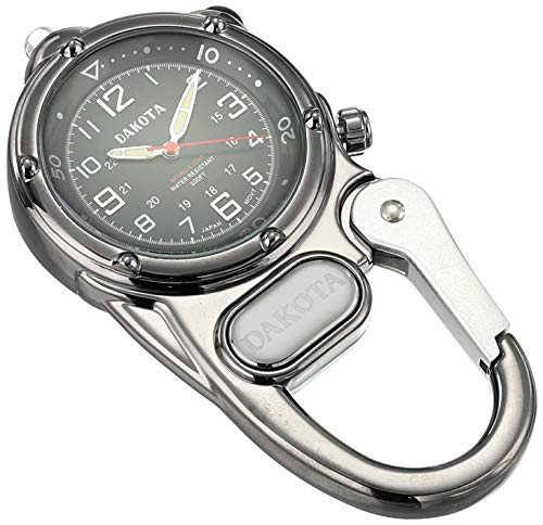 Dakota 3810-0 Mini Clip Microlight Watch, Gunmetal