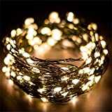 [200 Leds] Luces de Cadena Hadas Luces de Navidad 20 Metros Alimentadas por USB 8 Modos con Control Remoto y Temporizador Hada Decorativa para decoración del hogar, Árbol de Navideña