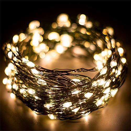 [200 LED] Luci Albero di Natale Decorazioni Luci Led Catene Luminose 20 Metri Alimentazione USB 8 Modalità con Telecomando e Timer Fata Decorativa per la Casa, Albero di Natale