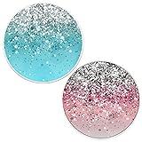 Brant - Soporte y Agarre para Teléfonos Móviles y Tabletas - Lluvia de Arcoiris Rosa Azul(2 Paquetes)