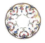 Rockingham Painted Enamel Plate Plato de Rosas, guirnaldas, esmaltado, acuosa