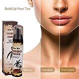 Mousse autobronzante pour la peau Mousse bronzante sans soleil Sun Onkessy pour les soins du corps et du visage