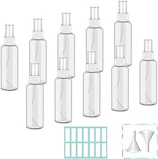 Oziral Bote Spray Pulverizador Botes Viaje Pulverizador Transparente Set Plástico Botella Vacía de Spray para Perfumes C...