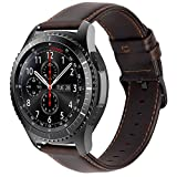 iBazal 22mm Correas Cuero Piel Pulseras Bandas Compatible con Samsung Galaxy Watch 3 45mm/Galaxy...