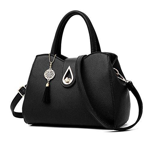 Zzyff Elegante Borsa Nera Femminile Inverno Dolce Moda Selvaggia Messenger Bag Borsa Semplice Borsa di Mezza età Femminile Alta qualità