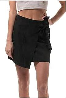 HYFVE Women's Small Side Tie Asymmetric Wrap Sarong Skirt