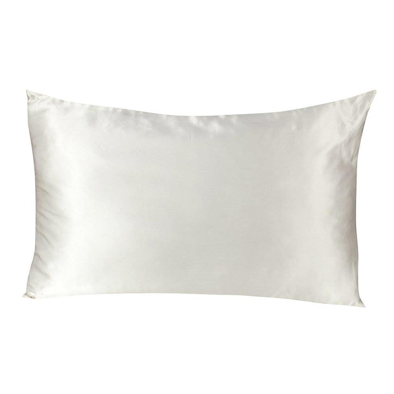 無心十二追放するTenn Well シルク枕カバー, 19匁シルク100%ピローケース 両面タイプ (1枚 白い)