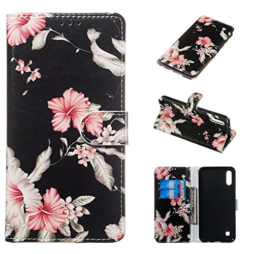 iPhone Xs Rhododendron,Veined MarbleFlip Case Leather Cover Kickstand Luxury Business Cell Phone Cover Card Holders