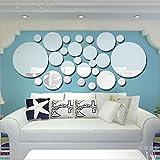 Toifucos - Espejo adhesivo de pared, acrílico, para bricolaje, en 3D, redondo,...