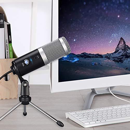 BLKykll PC USB-microfoon voor computer (Mac en Windows), USB-condensatormicrofoon, voor het opnemen van muziek, video, Podcast, gaming opnames