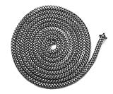 Junta para chimenea, 3 m, diámetro de 10 mm, junta de puerta no autoadhesiva, apta para estufas Justus y Oranier