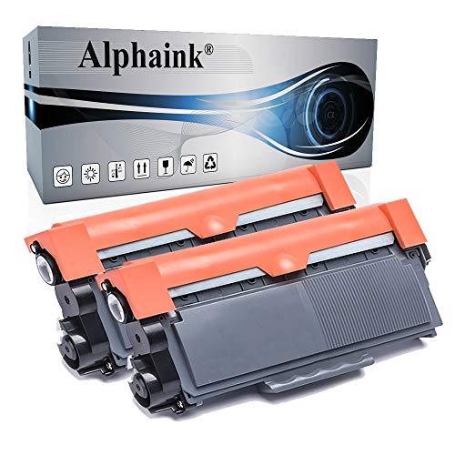 2 Toner Alphaink Compatibile con Brother TN-2320 versione da 2600 copie per stampanti Brother DCP-L2500 2520 2540 2560 2700 HL-L2300 2320 2321 2340DW 2360DW 2700DW MFC-L2701 2703 2720DW 2740DW