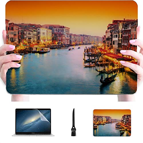 MacBook Pro 13 Cover Famous Canal and Bridge at Sunset Plastic Hard Shell Compatible Mac Air 13' Pro 13'/16' MacBook Pro 2016 Case Protective Cover for MacBook 2016-2020 Version
