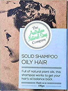 The Aust. Natural Soap Co Solid Shampoo Bar for Oily Hair 100 g, 100 g