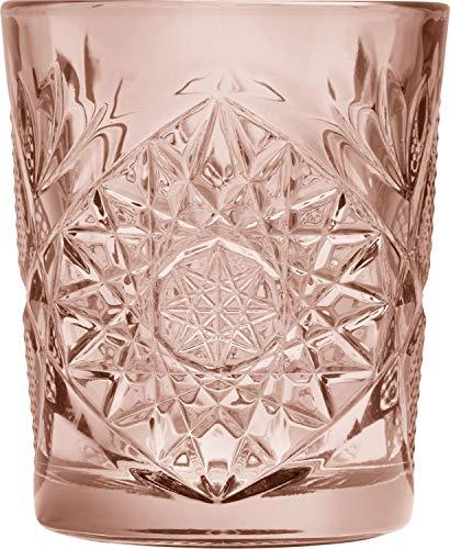 LIBBEY Hobstar - Vaso (6 x 0,35 L), color rosa