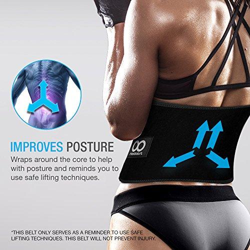 Maxboost Waist Trimmer Premium Neoprene Ab Belt for Men & Women [Black, Classic...