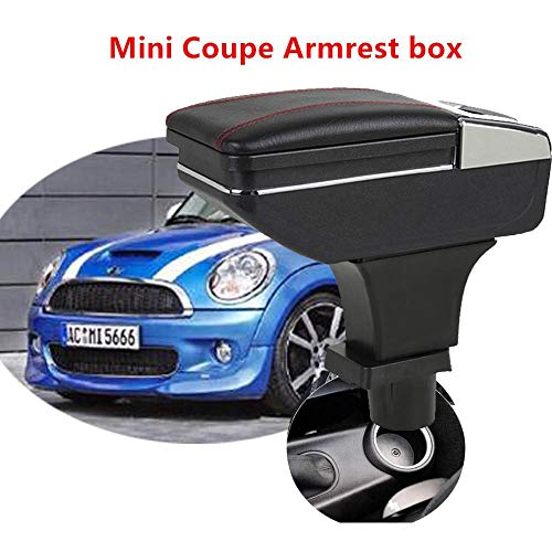 Car armrest box central Storage box for MINI couper COUPE content box with cup holder