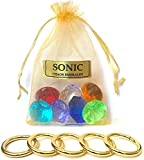 More Toys Sonic - Seven Chaos Emeralds Gems & Five Power Rings - in a Gift Bag - by Ace Trendz