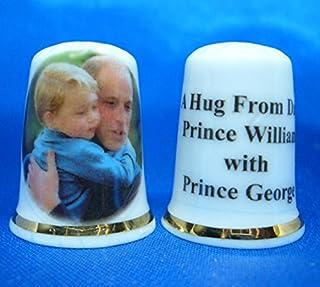 Birchcroft Porcelana China Coleccionable de dedal Elvis y Priscilla Casado