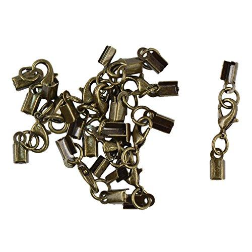 harayaa Broches de Langosta de Latón Garra Hook Collar Pulsera Cordones 12mm 12pcs