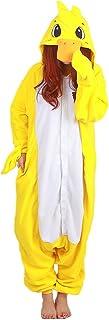 Pijama de Pato Amarillo Animal Trajes de Cosplay Adultos Unisex