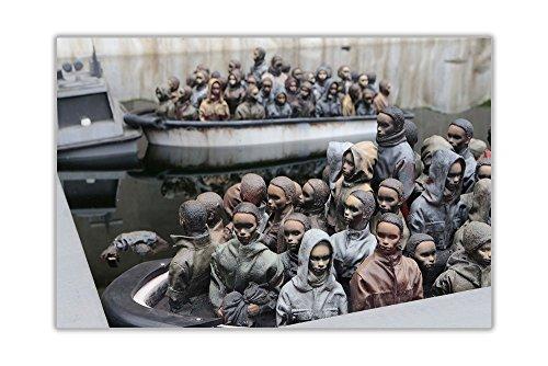 Dismaland Vluchteling Boten door Banksy Poster Wall Art Prints Huisdecoratie Montage
