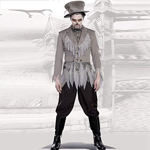 MAJOZ0 - Juego de disfraces de vampiro para hombre, disfraz de vampiro fantasma de novia para disfraz de cosplay, tipo 1, tamaño mediano