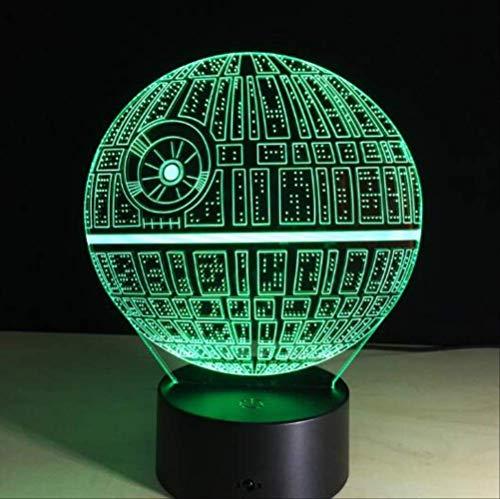Lámpara De Noche 3D La Seguridad Es Lo Primero, Visual Transparente 7 Cambio De Color Lámpara De Mesa Táctil Luz Decoración Led Juguetes De CabeceraDormitorio De Noche Lámpara De Habitación Pa