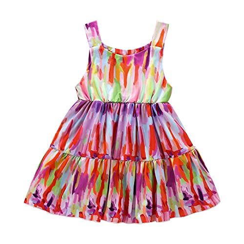 Toddler Kid Baby Girl Summer Dresses Tie-dye Sleeveless Dress Comfortable Cute Kids Dress Sundress Outfits