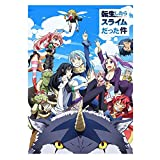 Raleighsee That Time I Got Reincarnated As A Slime Anime Official Same Paragraph Coated Paper Poster Characters Collection Painting Home Decor Holiday Gifts for Anime Fans