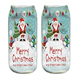 O-C 3D Print Pattern Unisex Stocking Santa Claus Series Expressions Sock