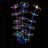 Uniclife Tira Coral Plant Ornament Efecto Brillante Silicona Decoración Artificial para Pecera, Acuario Paisaje - Naranja