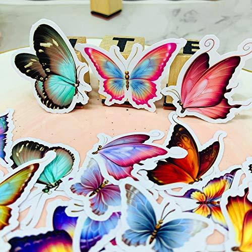 YOUKU Fantasía Mariposa Creativa Cuenta de Mano periférica DIY álbum de Fotos Ordenador monopatín Casco decoración Pegatina 30 Piezas