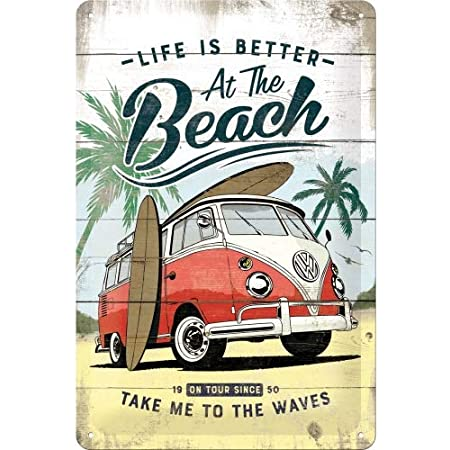 Nostalgic Art Retro Blechschild Volkswagen Bulli T1 Beach Vw Bus Geschenk Idee Aus