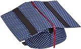 Klein & More Buchstütze Leselotte Pünktchen blau Lesekissen für bequemes Lesen, Baumwolle, gängige Buchgrößen geeignet